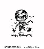 happy halloween icon  holiday ... | Shutterstock .eps vector #722088412