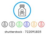 toxic vial rounded icon. style... | Shutterstock .eps vector #722091835