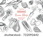 organic farm shop. vector... | Shutterstock .eps vector #722092642