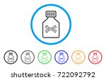 poison vial rounded icon. style ... | Shutterstock .eps vector #722092792