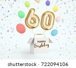 happy birthday 60 years... | Shutterstock . vector #722094106