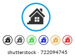 house porch rounded icon. style ... | Shutterstock .eps vector #722094745