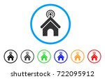 telecom office rounded icon.... | Shutterstock .eps vector #722095912
