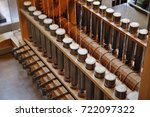 old japanese spinning factory... | Shutterstock . vector #722097322