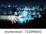 businessman on blurred... | Shutterstock . vector #722098642