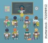 teachers day background. school ... | Shutterstock .eps vector #722098912