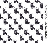 seamless pattern with cute and...   Shutterstock .eps vector #722098972
