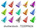paper birthday party hats... | Shutterstock .eps vector #722099626