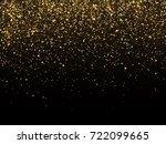golden rain isolated on black... | Shutterstock .eps vector #722099665