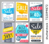 shopping sale vector... | Shutterstock .eps vector #722099872