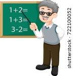 handsome professor teaches... | Shutterstock .eps vector #722100052