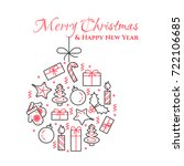 christmas and new year banner... | Shutterstock .eps vector #722106685