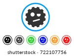 negation smiley gear icon....   Shutterstock .eps vector #722107756