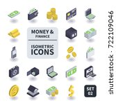 simple set of money and finance ... | Shutterstock .eps vector #722109046