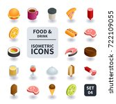 simple set of food and drink... | Shutterstock .eps vector #722109055