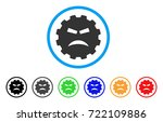 furious smiley gear icon.... | Shutterstock .eps vector #722109886