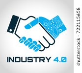 industrial 4.0 cyber physical... | Shutterstock .eps vector #722115658