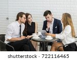 group of young business... | Shutterstock . vector #722116465