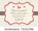 butterfly invitation card | Shutterstock .eps vector #72211786