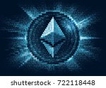 virtual ethereum digital... | Shutterstock .eps vector #722118448