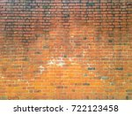 brick wall brown color of... | Shutterstock .eps vector #722123458