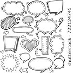 comic speech bubbles   vector... | Shutterstock .eps vector #722124745