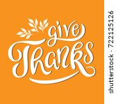 give thanks lettering with... | Shutterstock .eps vector #722125126