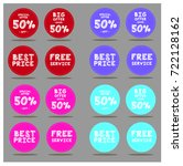 discount tag with special offer ... | Shutterstock .eps vector #722128162