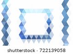 light blue vector polygon... | Shutterstock .eps vector #722139058