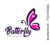 Stock vector abstract butterfly logo template simple vector logo illustration 722143666