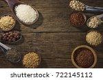 various type of cereal grains... | Shutterstock . vector #722145112