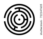 circle maze or labyrinth black... | Shutterstock .eps vector #722147635