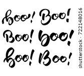 halloween. boo handlettering in ... | Shutterstock .eps vector #722148016