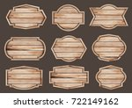 vector wood sign realistic... | Shutterstock .eps vector #722149162