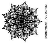 mandalas for coloring book.... | Shutterstock .eps vector #722150782
