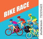 group of cyclist at... | Shutterstock .eps vector #722151622