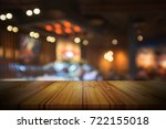 empty wooden table top with... | Shutterstock . vector #722155018