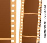 illustration with blank film... | Shutterstock .eps vector #72216433