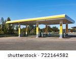 empty petrol station. energy... | Shutterstock . vector #722164582