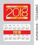 simple pocket european calendar ...   Shutterstock .eps vector #722166862