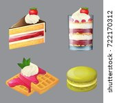 sweets and desserts  cartoon... | Shutterstock .eps vector #722170312