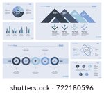 six consulting slide templates... | Shutterstock .eps vector #722180596