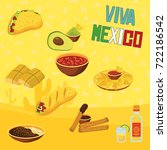 mexican traditional food | Shutterstock .eps vector #722186542