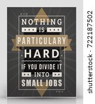 vintage inspirational and... | Shutterstock .eps vector #722187502