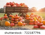 Wooden Wagon With Pumpkins....