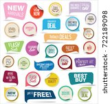 modern badges colorful... | Shutterstock .eps vector #722189098