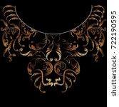 baroque neckline embroidery... | Shutterstock .eps vector #722190595