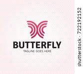 vector butterfly logo design... | Shutterstock .eps vector #722192152