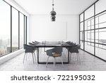 modern conference room interior ... | Shutterstock . vector #722195032