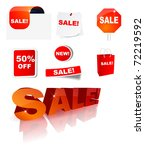 sale icon collection  eps10... | Shutterstock .eps vector #72219592